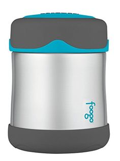 THERMOS FOOGO Vacuum Insulated Stainless Steel 10Ounce Food Jar CharcoalTeal -- Find out more about the great product at the image link.