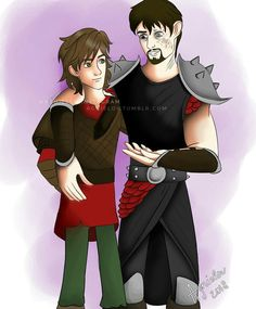 Viggo Grimborn with Hiccup Haddock / HTTYD / HTTYD 2 / RTTE / Race to the edge < I really like this. Nice job to the person who made it. :)