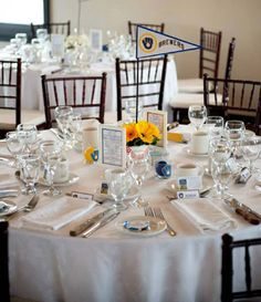 Baseball themed wedding table centerpiece ideas for a baseball wedding  #baseballwedding