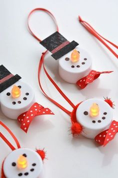 The Best DIY Dollar Store Christmas Ornament Hacks EVER! Come and check out some of The Best DIY Dollar Store Christmas Ornament Hacks EVER! All are fabulous and so incredibly budget friendly! DIY Dollar Store Christmas Hacks you will LOVE! Christmas Decoration For Kids, Christmas Ornament Crafts, Xmas Crafts, Christmas Diy, Snowman Ornaments, Snowman Crafts, Holiday Decorations, Handmade Decorations, Christmas Crafts With Kids