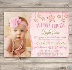 Twinkle Twinkle Little Star Birthday Invitations Photo by cardmint