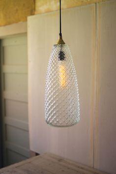 Hobnail Glass Mini Pendant
