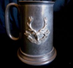 English Pewter REGIMENTAL Tankard/Mug, GORDON HIGHLANDER'S  Scottish Emblem