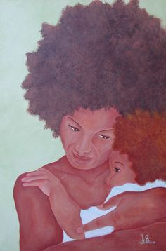Black Women Art!, A Mothers Comfort by Nalome