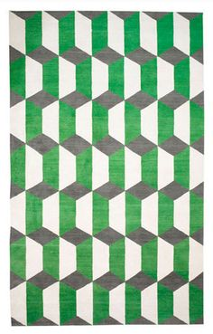 Chiesa Green Rug by Suzanne Sharp for The Rug Company.