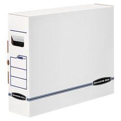 Bankers Box X-Ray Storage Box, Film Jacket Size, 5 x 14-7/8 x 18-3/4, White/Blue, 6/Carton