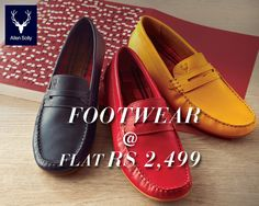 Get your favourite pair in all the colours!  Men's shoes at flat Rs 2,499 at the Allen Solly End of Season Sale.