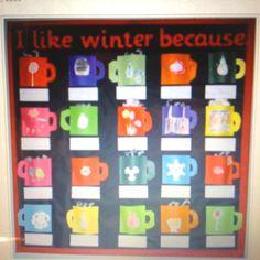 Winter bulletin board idea from www.bulletinboardideas.org