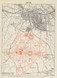 Plan for New Delhi (Lutyens & Baker 1910)  (modernism, colonial project, Beaux-Arts)