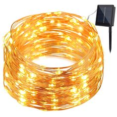 GDEALER Solar String Lights 8 Modes 100LED 33ft Copper Wire Lights Waterproof Starry Fairy String Lights Ambiance Lighting for Outdoor Landscape Patio Garden Christmas Wedding(warm white)(1) >>> Awesome product. Click the image : Wedding Decor
