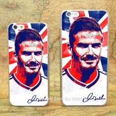 david beckham oil painting Pattern hard transparent clear Cover Case for iPhone 4 4s 5 5s 5c 6 6s 6 Plus