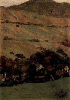 Hills (landscape) by Egon Schiele