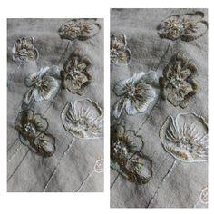 양귀비자수 에코백예요~~ ^^ #embroidery #poppy #needlework #프랑스자수 #프랑스자수수업 #송파잠실프랑스자수