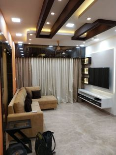 Interior Designer in Thane _ One Stop Solutions In Budget Drawing Room Ceiling Design, House Ceiling Design, Ceiling Design Living Room, Bedroom False Ceiling Design, Ceiling Decor, Living Room Designs, Best False Ceiling Designs, Gypsum Ceiling Design, Drawing Room Interior