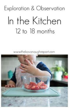 Montessori in the kitchen from 12 to 18 months and the role of exploration and o… Montessori in der Küche von 12 bis 18 Monaten und die Rolle der Erforschung und Beobachtung The Kavanaugh Report Montessori 12 Months, Montessori Toddler, Montessori Activities, Infant Activities, Learning Activities, Activities For Kids, Toddler Toys, 18 Month Activities, Montessori Bedroom