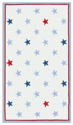 Rug Market Kids 11564 Mini Star Red/White/Blue Area Rug