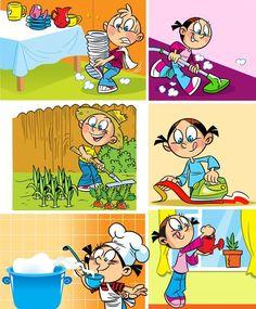 Сюжетные картинки для детей - Мамины помощники