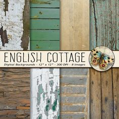 Shabby Chic English Cottage Wood Texture Wood by TheArtBoxDesigns