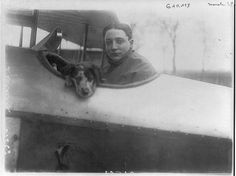 C.1914 French Aviator Pilot Dog in Cockpit by InterestingPhotos, $7.95