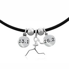 Lift Your Sole .925 Sterling Silver 13.1 and 26.2 Charm Trio Necklace