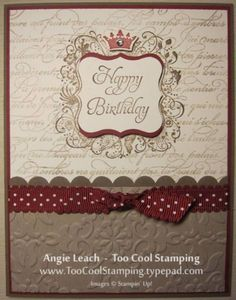 Earthy Elementary Elegance Crown by Angie Leach - Cards and Paper Crafts at Splitcoaststampers/En Francais