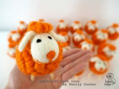 Felted Animal Fanta Dolly Sheep Needle Felted Cute by WoollyCorner