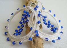 Check out this item in my Etsy shop https://www.etsy.com/listing/230158162/white-and-blue-lace-earrings-white-and