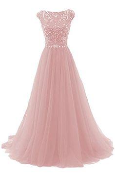Marsen Woman's Elegant Floor Length Bridesmaid Cap Sleeve Prom Evening Dresses