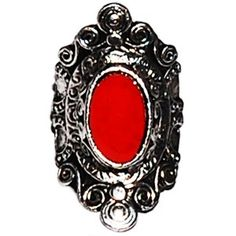 Red Stone Medieval Surround Ring