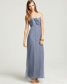 Am Strapless Rosette Gown Bloomingdales Dress A Collection Of