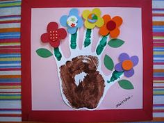 Plants: Spring or mother's day Crafts For Kids, Arts And Crafts, Kids Calendar, Flower Crafts, Spring Flowers, Paper Flowers, Fathers Day, Projects To Try, Frame