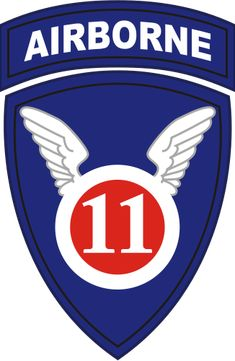 Shoulder sleeve patch of the U.S.11th Airborne Division.