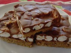 Smores Bars - just like my moms, except hers had peanut butter in the chocolate.