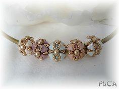 beaded bead: Perle Isis - Puca
