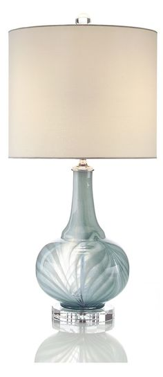 Table Lamps, Designer Blue Matte Art Glass Table Lamp, so beautiful, one of over 3,000 limited production interior design inspirations inc, furniture, lighting, mirrors, tabletop accents and gift ideas to enjoy repin and share at InStyle Decor Beverly Hills Hollywood Luxury Home Decor enjoy happy pinning
