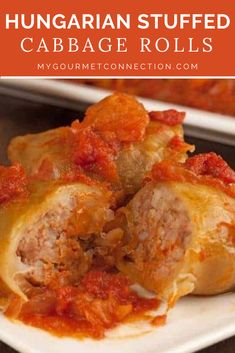 Our family recipe for Hungarian Stuffed Cabbage Rolls uses a filling of ground meat and rice and a thick tomato sauce flavored with sauerkraut and bacon. Cabbage Roll Sauce, Cabbage Roll Casserole, Hungarian Cuisine, Hungarian Recipes, Hungarian Food, European Cuisine, German Cabbage Rolls, Hungarian Stuffed Cabbage Rolls Recipe, Recipe For Cabbage Rolls