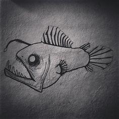 Angler Fish Drawing I did.  #drawing #art #anglerfish #fish