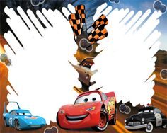 Free Disney Borders | Cars Racing Frames | Frame 123