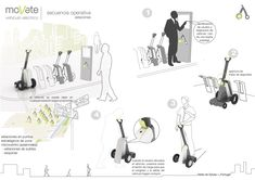 Movete Personal Mobility Device, thought for pedestrian zones at Buenos Aires. Award in National Innovation Contest from Argentina ( INNOVAR) at Innovative Concept category. - by Sara Aletta de Sylvas Design Logo, Design Poster, Tool Design, Layout Design, Industrial Design Portfolio, Portfolio Design, Type Posters, Catalog Design, Concept Board