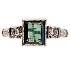 Antique Art Deco Natural Alexandrite Ring | 1920s Cocktail Ring