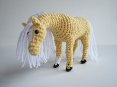 **Please note that this listing is for a PDF pattern and NOT a finished product.** My search for an amigurumi horse that actually looks like a horse ended when I designed and brought to life this horse - and now you can, too!! You can be the designer and create your dream horse. The