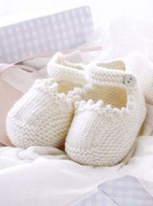 Baby Strap Booties free pattern