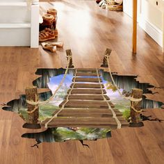Mysterious 3D Removable Home Floor Wall Stickers Decal Art Vinyl Room Decor DIY
