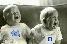 UNC - Duke Babies...They must be watching basketball!