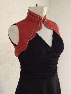 Rust Linen Steampunk Halter Vest. $122.00, via Etsy.