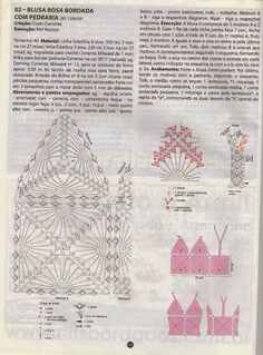 Crochet top — Crochet by Yana Crochet Doily Diagram, Bead Crochet, Crochet Motif, Crochet Doilies, Crochet Designs, Knit Crochet, Crochet Patterns, Crochet Lingerie, Bikinis Crochet
