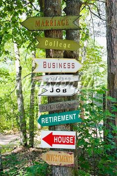 eclectic directional signage