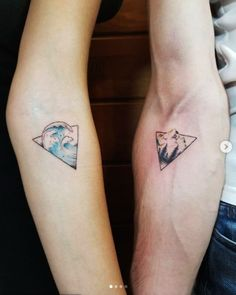 35 Sweet his and her matching tattoos for couples - Best Tattoo Models Diy Tattoo, Ink Tatoo, Trendy Tattoos, Unique Tattoos, Tattoos For Women, Small Tattoos, Awesome Tattoos, Band Tattoos, Sleeve Tattoos