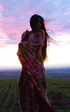 Latonia Andy - Walla Walla - Washington - Yakama - Pendleton Blanket - Sunset - Native - Woman pendleton blanket
