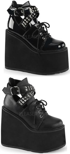 """Demonia 3.75/"""" Vegan Black Scalloped Ankle Lace Bow Heart Boots Glam Goth 6-12"""